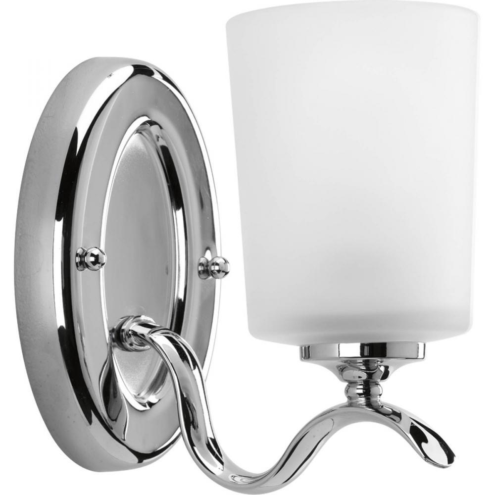 one light polished chrome etched glass bathroom sconce 1nazq