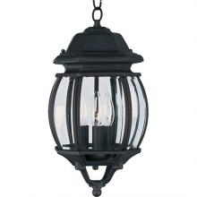 Maxim 1036BK - Crown Hill 3-Light Outdoor Hanging Lantern