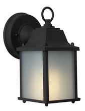 Craftmade Z192-05-NRG - One Light Matte Black Frosted Glass Wall Lantern