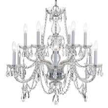 4 light wet white crystal mini chandelier draped in clear italian 12 light polished chrome crystal chandelier draped in clear italian crystal 2gp9y aloadofball Choice Image