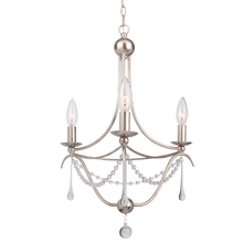Crystorama 423-SA - Metro 3 Light Antique Silver Mini Chandelier I