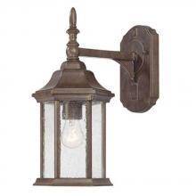 Acclaim Lighting 5188BW/SD - Craftsman Collection Wall-Mount 1-Light Outdoor Burled Walnut Light Fixture