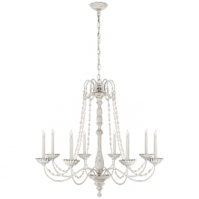 Visual Comfort CHC 1548BW-SG - Flanders Chandelier in Belgian White with Seeded