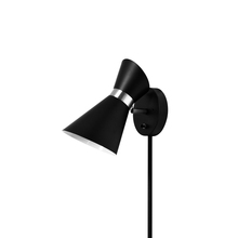 Dainolite 1678W-BK-PC - 1LT Wall Lamp, Black & Polished Chrome Finish