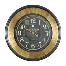 Uttermost 06099 - Uttermost Lannaster Black & Gold Wall Clock